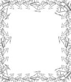 Decorative hand drawn piano border and frame