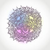 Decorative Hand Drawn Vector Circle Shape Design Royalty Free Stock Photography