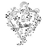 Decorative hand lettering Stock Image