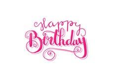Happy Birthday lettering vector Stock Image