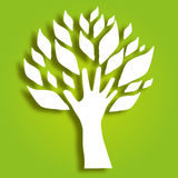 Decorative hand tree Royalty Free Stock Images