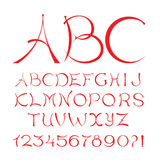Decorative handcrafted Arched vector font. Decorative handcrafted Arched vector font Stock Photography