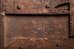 Decorative handiwork on an old wooden panel Stock Photography