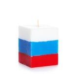 Decorative Handmade candle isolated on white background. Royalty Free Stock Images