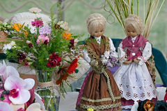 Decorative handmade dolls royalty free stock photos