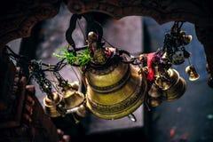 Decorative hanging bells Stock Photography