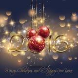 Decorative Happy New Year background Stock Image
