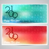 Decorative Happy New Year backgrounds. With snowflake designs royalty free illustration