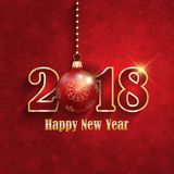Happy New Year bauble background. Decorative Happy New Year bauble background Stock Photo