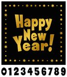 Decorative Happy new year typography Royalty Free Stock Images