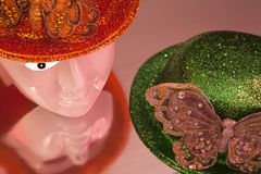 Decorative hats royalty free stock photography