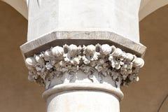 Decorative head of the column, Cloth Hall ( Sukiennice) Krakow,Poland Stock Photos