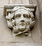 Decorative head - decoration at the entrance to the stables at the palace in  Pszczyna Stock Photo