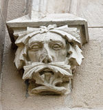 Decorative head - decoration at the entrance to the stables at the palace in  Pszczyna Stock Images