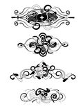 Decorative headers set Stock Photo