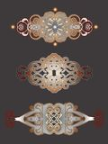 Decorative headers set. Set of 3 decorative vintage headers. Vector illustration Royalty Free Stock Image
