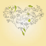 Decorative heart. Fully editable   illustration. Put in Layers for easy edits Royalty Free Stock Photography