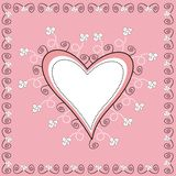 Decorative Heart. Pink and white decorative heart illustration Royalty Free Stock Photos