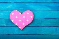 Decorative heart on blue background Royalty Free Stock Photo