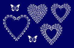 Decorative heart butterfly Stock Photo