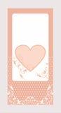 Decorative heart card pattern Stock Photo