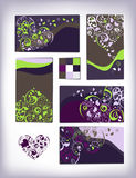 Decorative heart cards set Royalty Free Stock Photo