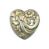 Decorative heart close white Royalty Free Stock Photography