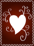Decorative heart design Stock Images