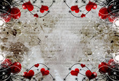 Decorative heart design. Decorative grunge heart design background Royalty Free Stock Photography