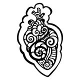 Decorative heart. Ethnic pattern. Stock Images