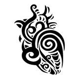 Decorative heart. Ethnic pattern. Stock Photo