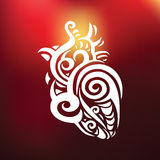 Decorative heart. Ethnic pattern. Royalty Free Stock Photography