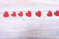 Decorative heart Felt for design to Valentines Day Royalty Free Stock Images