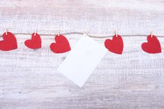 Decorative heart Felt for design to Valentines Day Stock Images