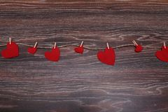 Decorative heart Felt for design to Valentines Day Stock Photo