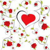 Decorative heart with floral ornament Stock Photography