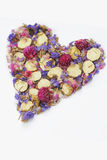 Decorative heart of flowers on a white background Royalty Free Stock Image