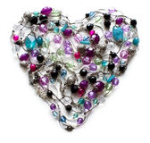 Decorative Heart From Jewelry Royalty Free Stock Image
