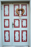 Decorative heart on the front door love, Valentine`s Day, Febru Stock Photography