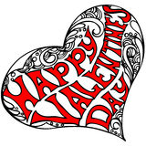 Decorative heart shape with the inscription Happy Valentine's day Royalty Free Stock Photography