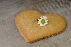 Decorative heart shaped cookie Stock Photos