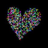 Decorative Heart stars Stock Images