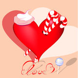 Decorative heart with sweets Stock Image