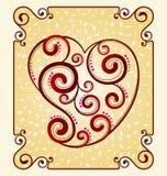 Decorative heart symbol Royalty Free Stock Photography
