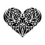Decorative heart tattoo Royalty Free Stock Photo