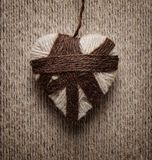 Decorative heart from threads Royalty Free Stock Photo