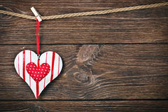 Decorative heart toy Stock Image