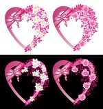 Decorative hearts Stock Photography