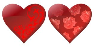 Decorative hearts Royalty Free Stock Image