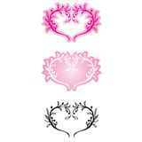 Decorative Hearts. 3 heart shaped decorative design. available in vector format Vector Illustration